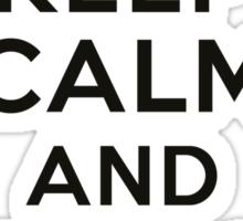 Keep calm and play baseball Sticker