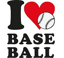 I love baseball Photographic Print
