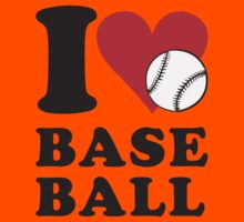 I love baseball Kids Tee