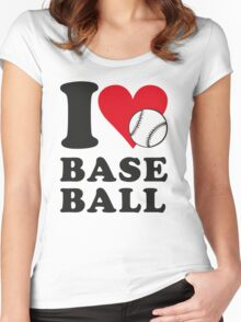 I love baseball Women's Fitted Scoop T-Shirt