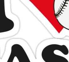 I love baseball Sticker
