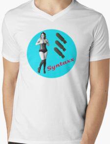 Sofia Syntaxx BOMBER [Color] Mens V-Neck T-Shirt