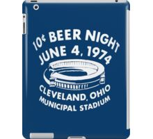 Cleveland 10 Cent Beer Night  iPad Case/Skin