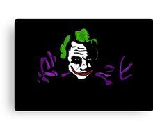 Black joker Canvas Print
