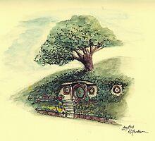 Bag End - A Hobbit's Home Underthehill. by r-henderson-art