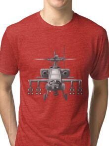 Apache Helicopter Tri-blend T-Shirt