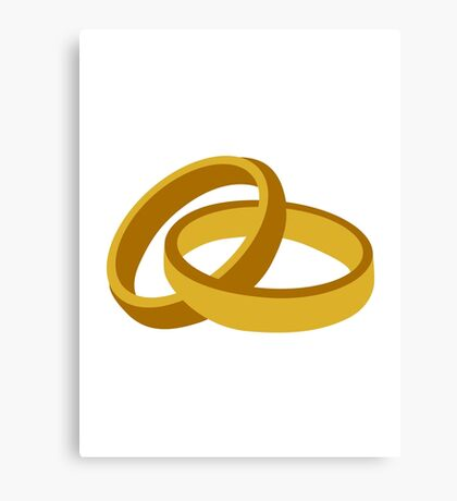 Golden rings marriage Canvas Print