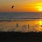 Kite at Sunset, on the Channel by AmyRalston