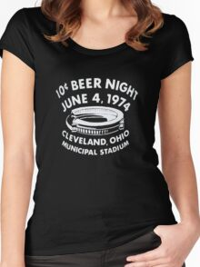 Cleveland 10 Cent Beer Night  Women's Fitted Scoop T-Shirt