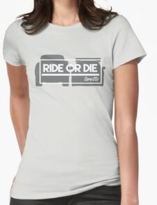 Quarter Mile  Womens Fitted T-Shirt