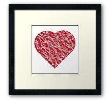 Hand drawn red heart 2 Framed Print