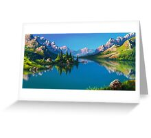North America Landscape Greeting Card