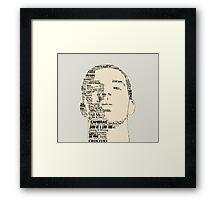 Drake Ultimate Setlist Framed Print