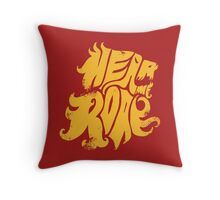 Hear me Roar - Yellow Throw Pillow