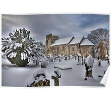 St Cuthbert's in the Snow Poster