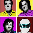 Top Gear Inspired Pop Art, All Personalities in One by ivanoski