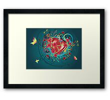 Hearts and Roses 2 Framed Print