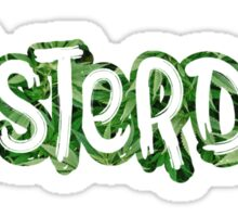 Amsterdam Weed Leaf Graffiti Outline Sticker