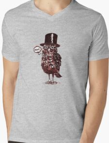 Elegant Hoot Owl Mens V-Neck T-Shirt