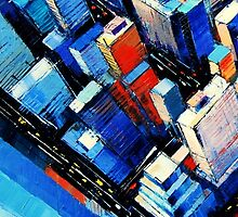 Abstract New York Sky View by emona