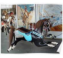 Watch Hill Carousel - Black Horse Poster
