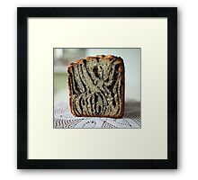 Homemade papaverous bread Framed Print