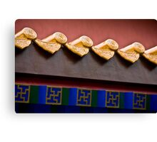 Forbidden City Eave Canvas Print