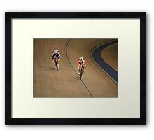 pursuit Cycling  Framed Print