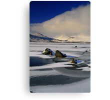 Blackmount Snowstorm Canvas Print