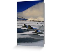 Blackmount Snowstorm Greeting Card