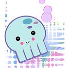 Pastel Kawaii Octopus by doonidesigns