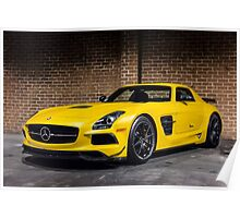 Mercedes SLS AMG Black Series Poster