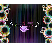 MoonDreams Music Abstract Color   Photographic Print