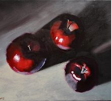 Red Apples Still Life by Steve Driver
