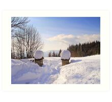 Winter's scene Art Print