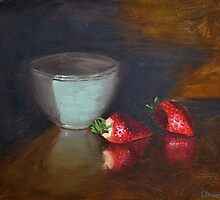 Strawberries and Bowl Still Life by Steve Driver