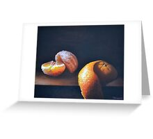 Orange Peeled Still Life Greeting Card