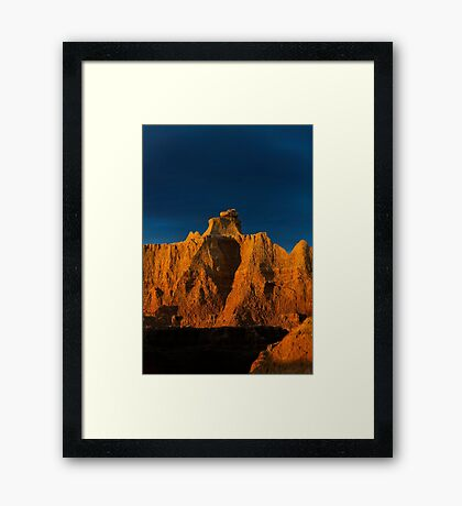 Sunrise over Badlands Door Trail .3 Framed Print