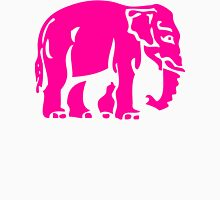 Caution Pink Elephants Crossing ⚠ Thai Road Sign ⚠ Womens Fitted T-Shirt