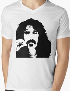 Frank Zappa T-Shirt Mens V-Neck T-Shirt
