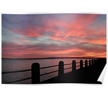 Sunset over Charleston Harbor Poster