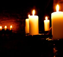 Glowing Candles by Laura McNamara