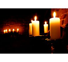 Glowing Candles Photographic Print