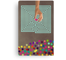 Color Chaos Collection -- Labyrinth Canvas Print