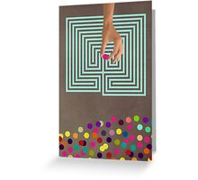 Color Chaos Collection -- Labyrinth Greeting Card