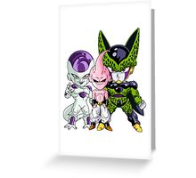 Frieza, Kid Buu & Cell (Chibi's) Greeting Card