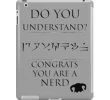 Skyrim - Dragon Language iPad Case/Skin