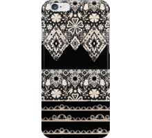 Seamless lace lacy washi tapes ribbon pattern on black texture iPhone Case/Skin