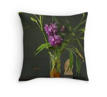 Rhodos and Bamboos - throw pillow Throw Pillow