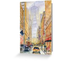 On The Way To Freedom Tower Greeting Card